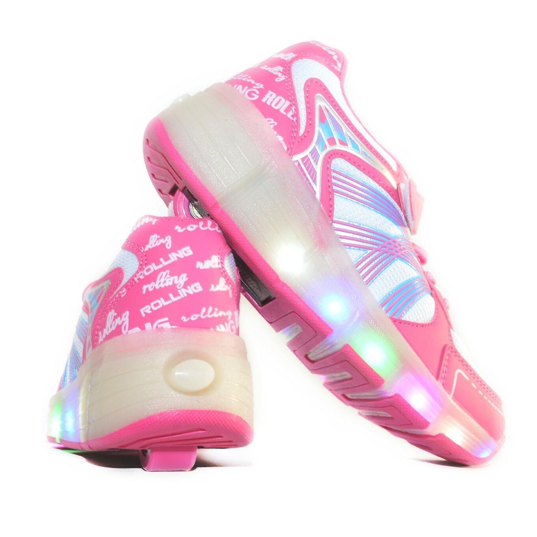 Talla Rosa Like Con De Niña Hasta 38 Regalo Para Bajo Envio Zapatillas Usay Ruedas 24h Chica 30 Mejor Costo Su Color Yb76gyf