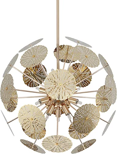 Fivess Lighting 12-Light Modern Sputnik Chandelier Gold
