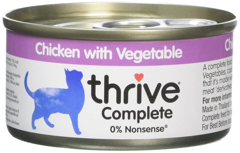 Thrive Complete Nourriture avec Poulet aux Légumes pour Chat 6 x 75 g THCCF6CV