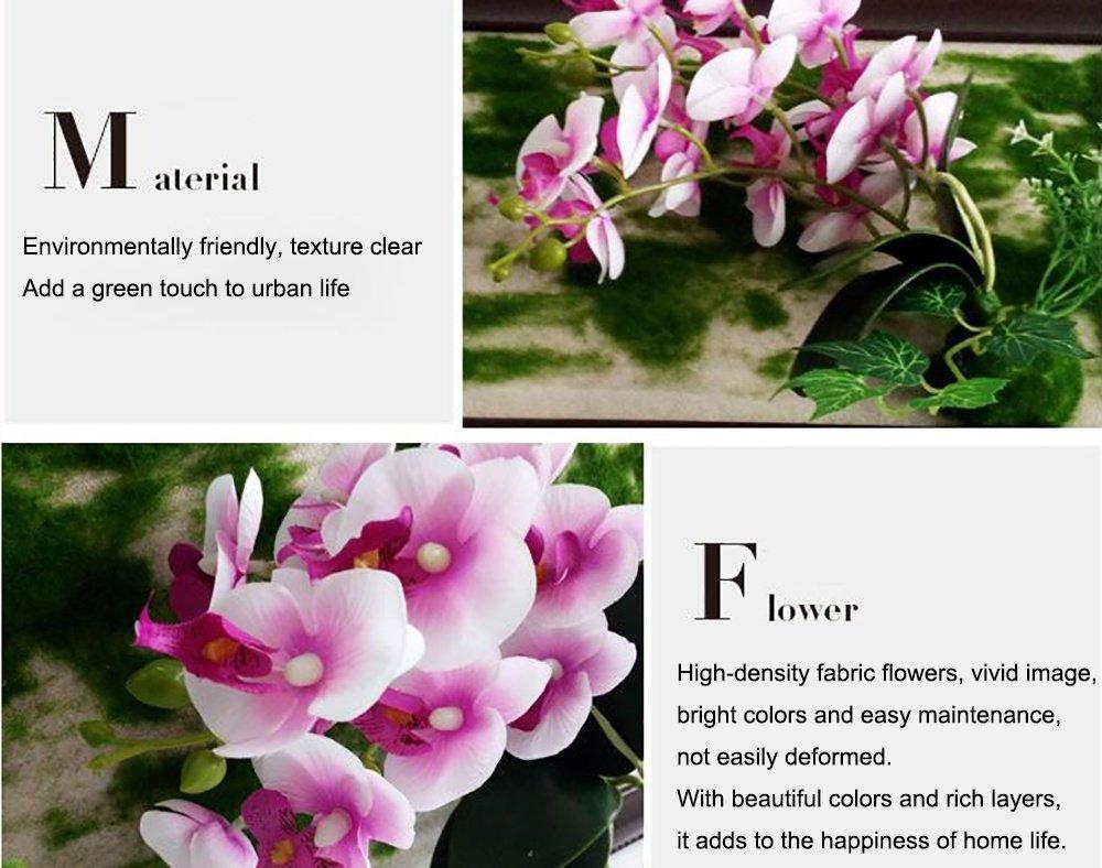 WY1688 3D Künstliche Blumen Wandhalter Phalaenopsis 3D Hintergrund ...