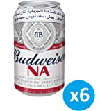 "Budweiser Classic Can ""Non Alcoholic Beer""- 355 ml (Pack of 6)"