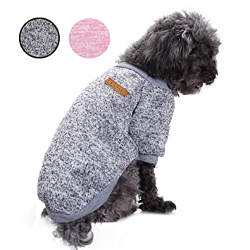 JUYUAN-EU Pet Dog Cat Knitted Sweater Jumper Warm Jumper Puppy Coat Jacket Clothes Costume Winter