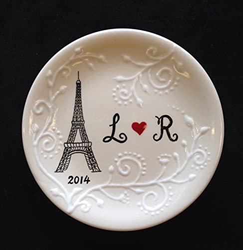 eiffel tower ring dish engagement gift wedding gift valentines day gift paris - Wedding Ring Dish