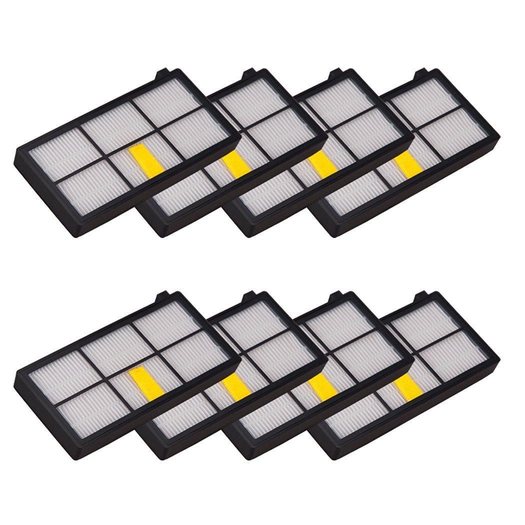 SG for iRobot Roomba Filters 8pcs Repleacement iRobot Roomba 980 960 860 880 Robotic Vacuum Cleaner Accessories 800 900 Series