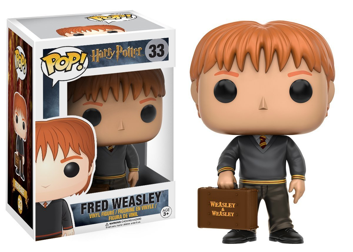 Funko Pop Fred Weasley Vinyl Figure Movies: Harry Potter Bundled with Pop Box Protector Case