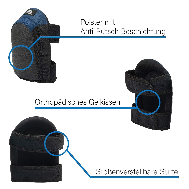 f/ür Profi Handwerker und Heimwerker Deutscher Hersteller LauterSchutz/® Premium Knieschoner f/ür Bodenleger mit Anti-Rutsch Beschichtung und bequemem Doppelverschluss