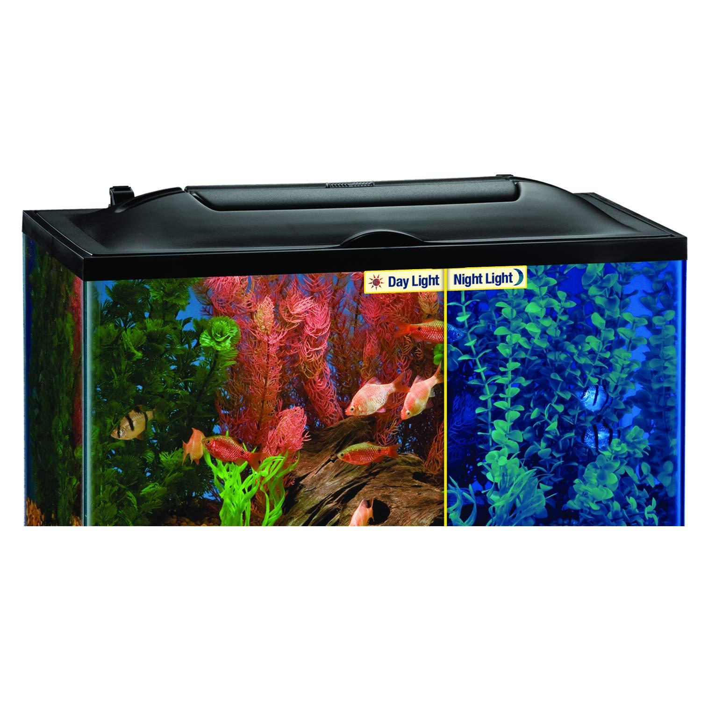 amazon com marineland led light hood for aquariums day night