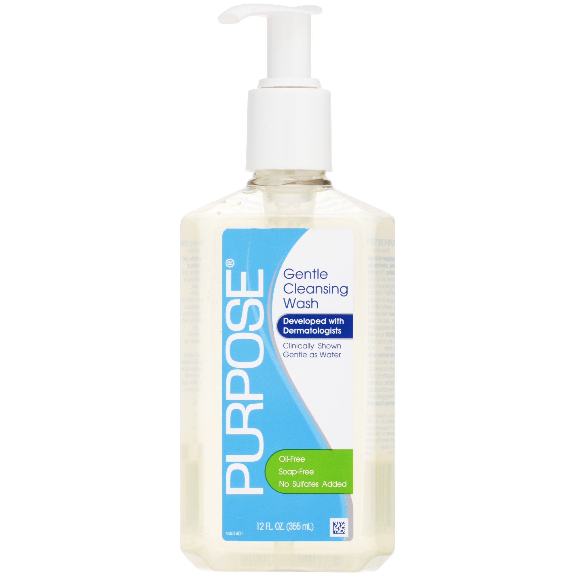 Purpose Gentle Cleansing Wash, 12-Ounce Pump Bottles (Pack of 2) by With a Purpose