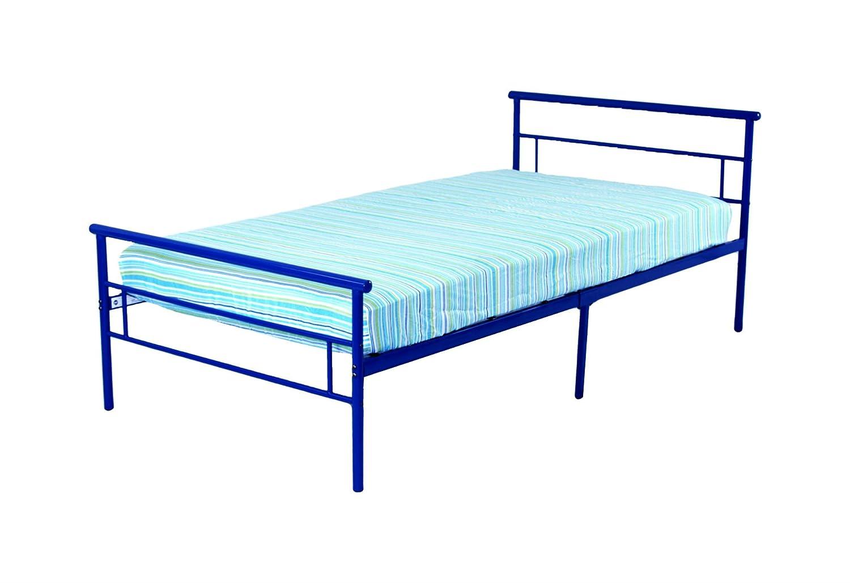 Rack Furniture Seattle Metal Twin Bed, Blue RR1082BL