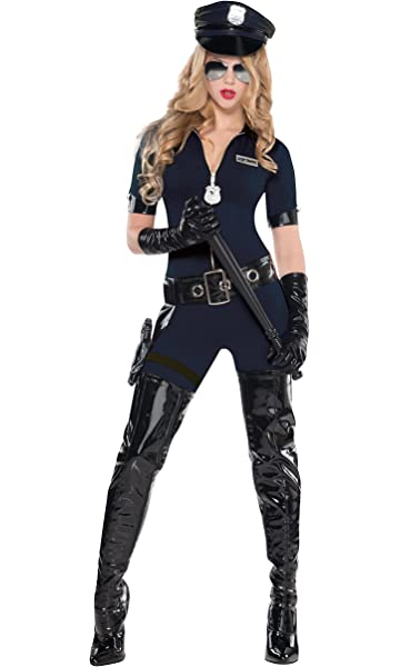 FBI Agent Large Adult Woman Inspector 7 Pc Costume Medium Small