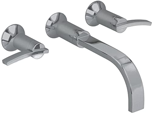 American Standard 7430.451.295 Berwick 2 Lever Handle Wall Mount Lavatory Faucet, Satin Nickel