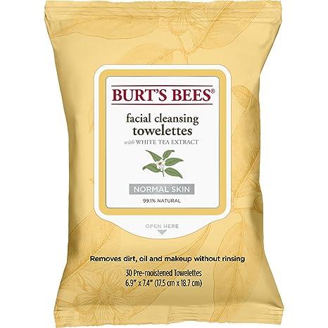 Burts Bees - toallitas de Limpieza Facial blanco té - 30 ...
