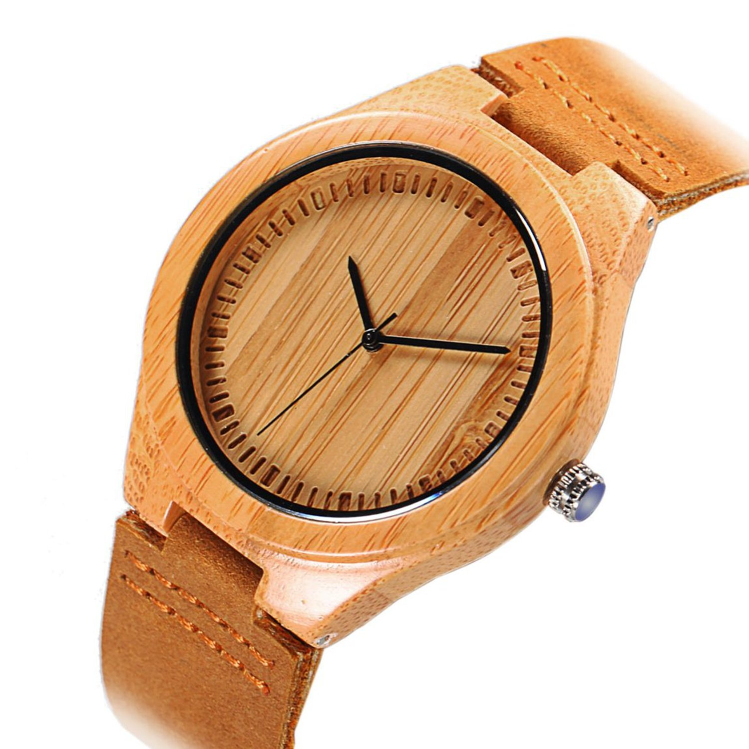 wood leather soft watches hawkbuy quartz straps bobo scale women bird products with com strap for bamboo watch img men