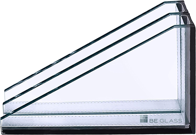 Isolierglas W/ärmeschutzglas 2-Fach Verglasung nach Ihrem Wunschma/ß 0,3 m/² Glaspaket Fensterscheibe Klarglas