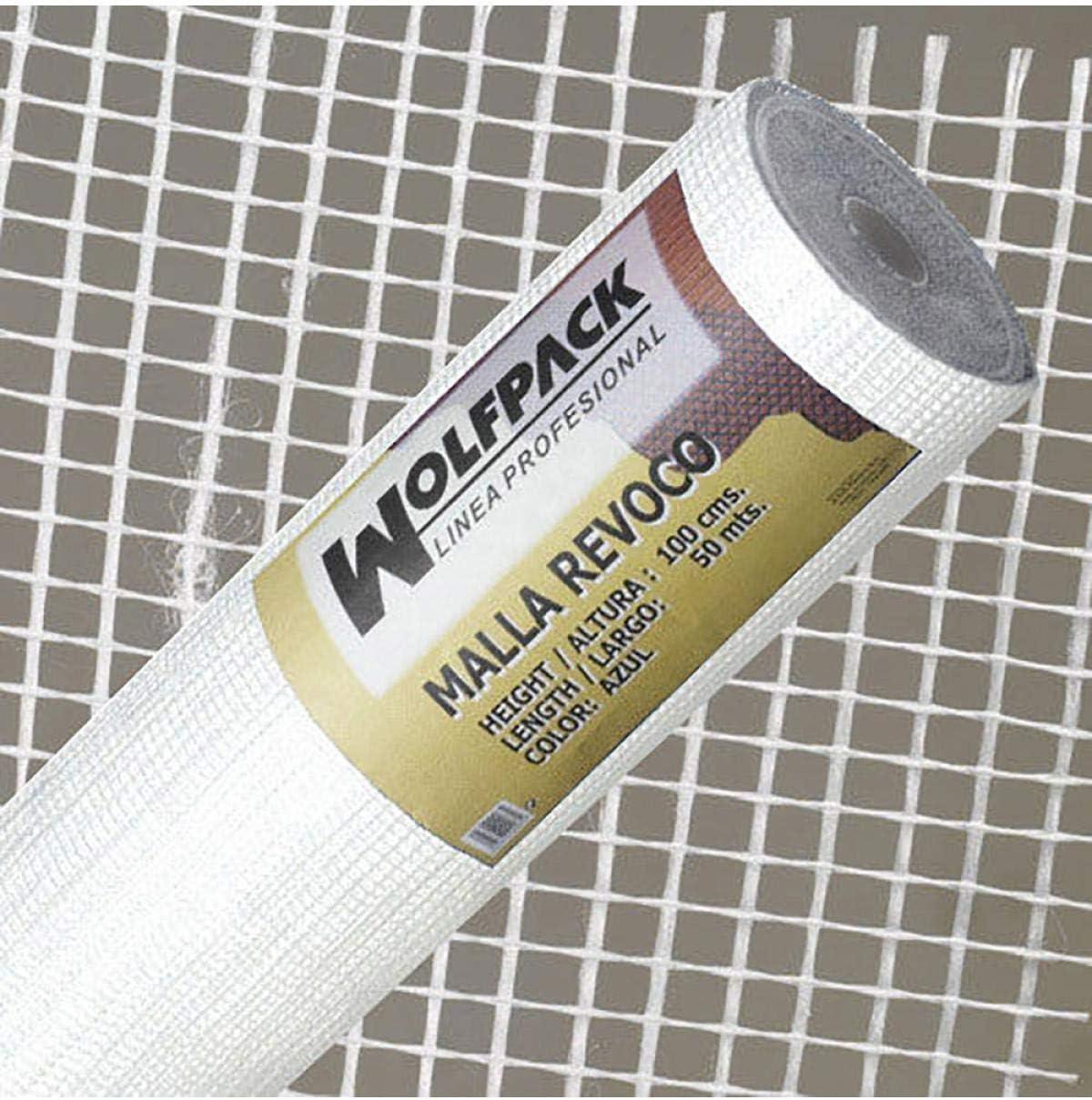 WOLFPACK LINEA PROFESIONAL 1202105 Malla Revoco Blanca Rollo 50 mt. x 1metro / 4 x 4,5 mm