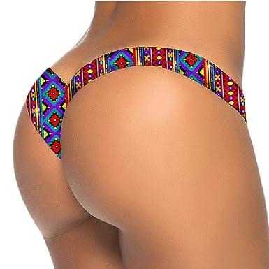 URSING Damen Bikini Slip Bottom Brasilianisch Drucken Thong ...