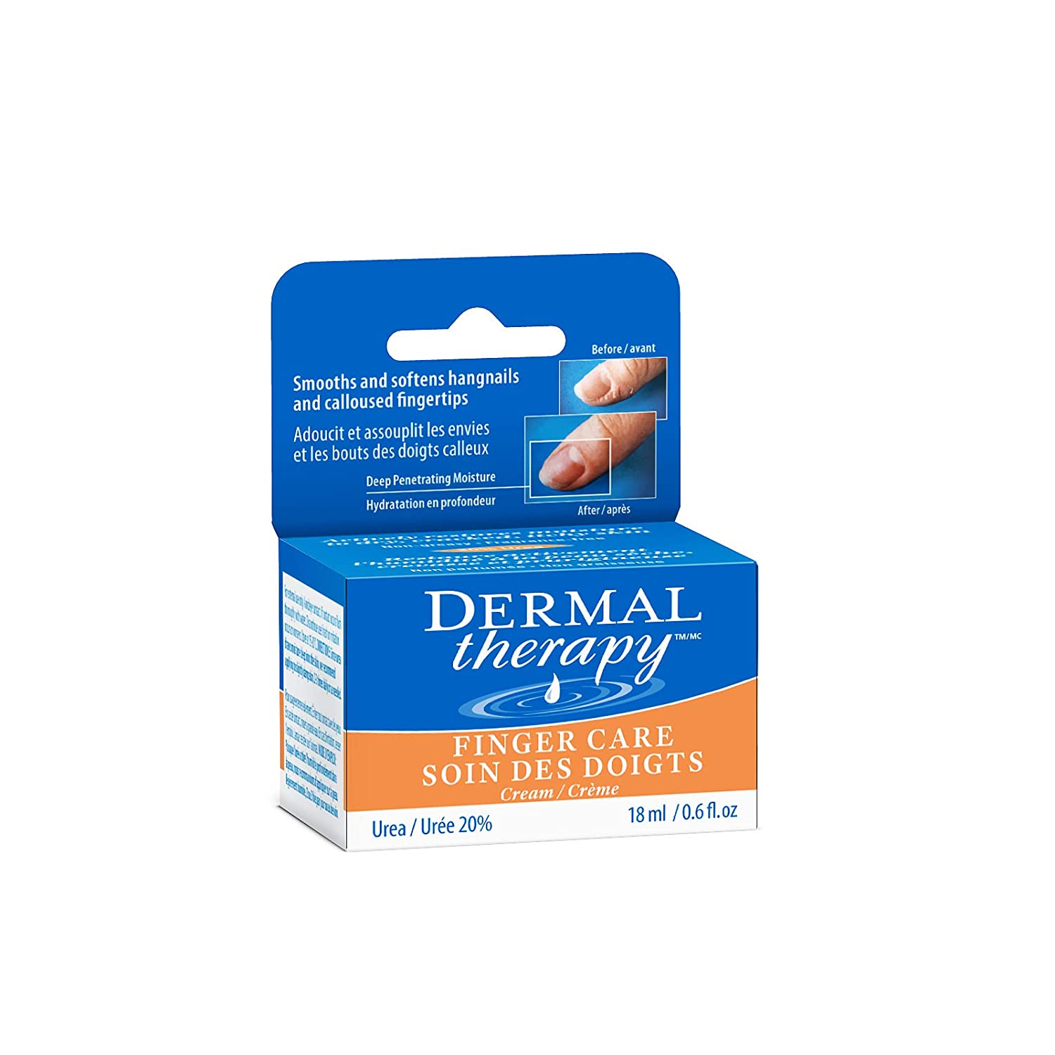 Dermal Therapy Finger Care Cream – Hydrating Treatment Repairs Skin to Heal Dry, Cracked Fingertips Resulting from Frequently Washed/Cleaned Hands | 20% Urea and 6% Alpha Hydroxy Acids | 0.6 fl. oz : Beauty
