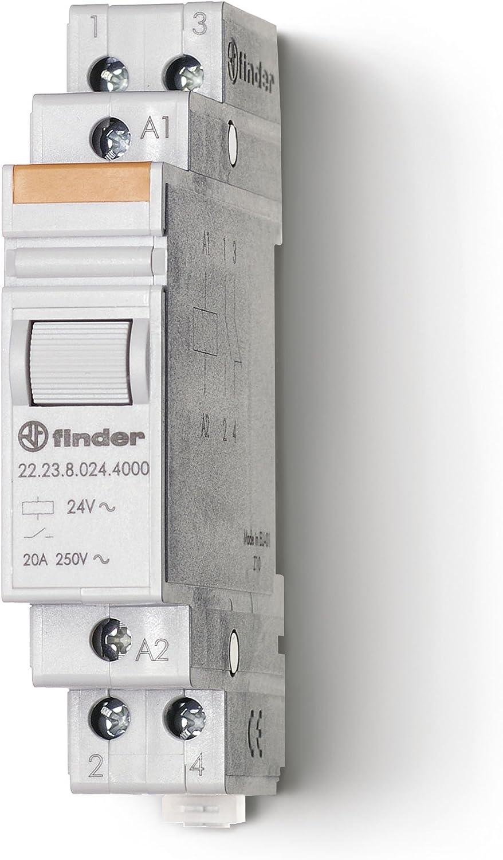 Finder serie 22 - Rele monoestable modular contacto abierto+contacto cerrado 12vdc tornillo