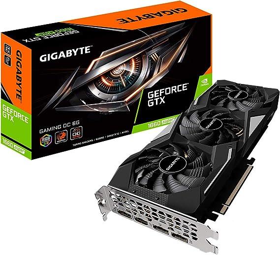 Amazon.com: Gigabyte GeForce GTX 1660 Super Gaming OC 6G Tarjeta gráfica, 3 ventiladores Windforce, 6 GB 192 bits GDDR6, Gv-N166SGAMING OC-6GD tarjeta de vídeo: Computers & Accessories