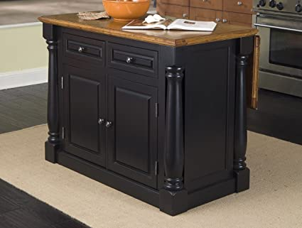 Amazon Com Home Styles 5008 94 Monarch Kitchen Island Black And