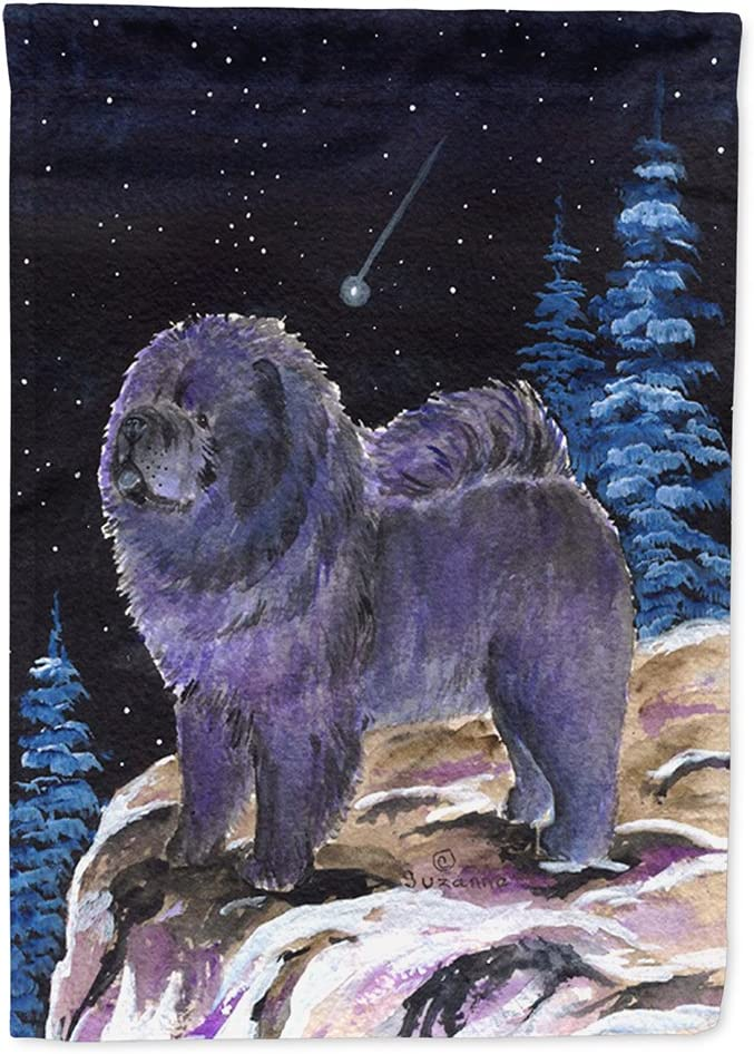 Caroline's Treasures SS8456GF Starry Night Chow Chow Flag Garden Size, Small, Multicolor