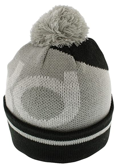 NIKE KD Icon Large Cuff Pom Beanie Winter Hat Court Cap (Black/Cool Grey