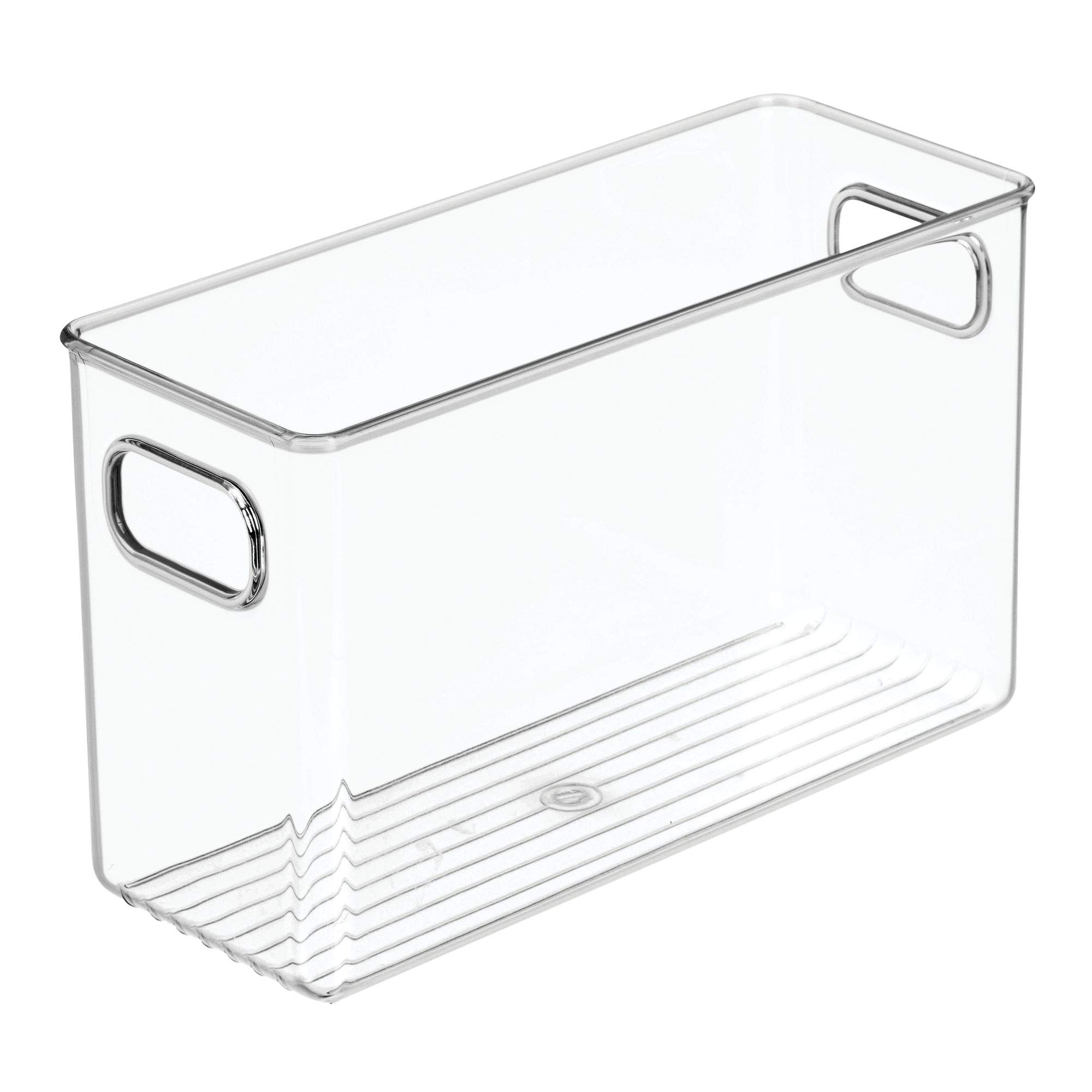 mDesign Office Supplies Desk Organizer Bin for Pens, Pencils, Markers, Highlighters, Tape - Pack of 4, 10'' x 4'' x 6'', Clear by mDesign (Image #7)