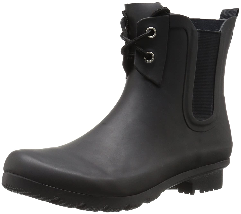 b4b17321cbba Amazon.com | Roma Boots Women's Chelsea Lace-Up Rain Boots | Rain Footwear