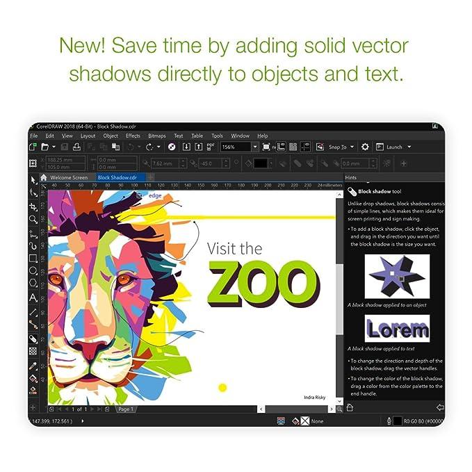 Amazon Com Coreldraw Graphics Suite 2018 With Particleshop Brush