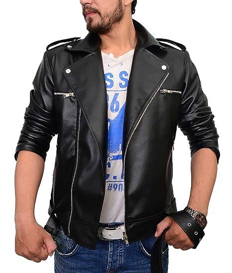 Amazon.com: abbraci para hombre motocicleta negro chamarra ...