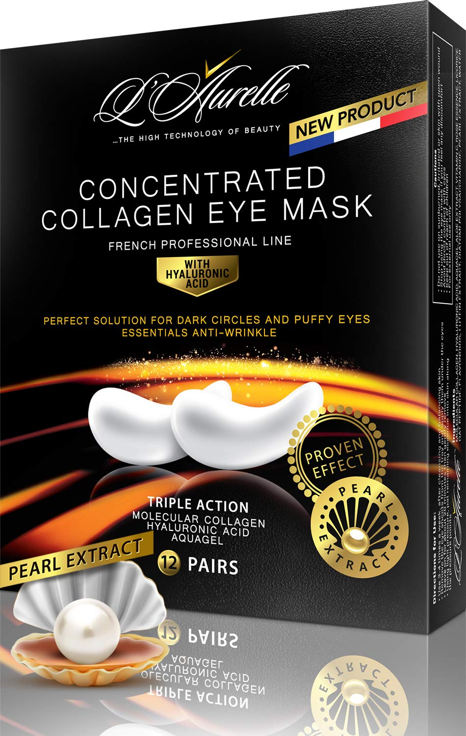 Under Eye Mask Collagen Eye Mask Pearl Extract Under Eye Pads AntiAging Hyaluronic Acid Eye Patches