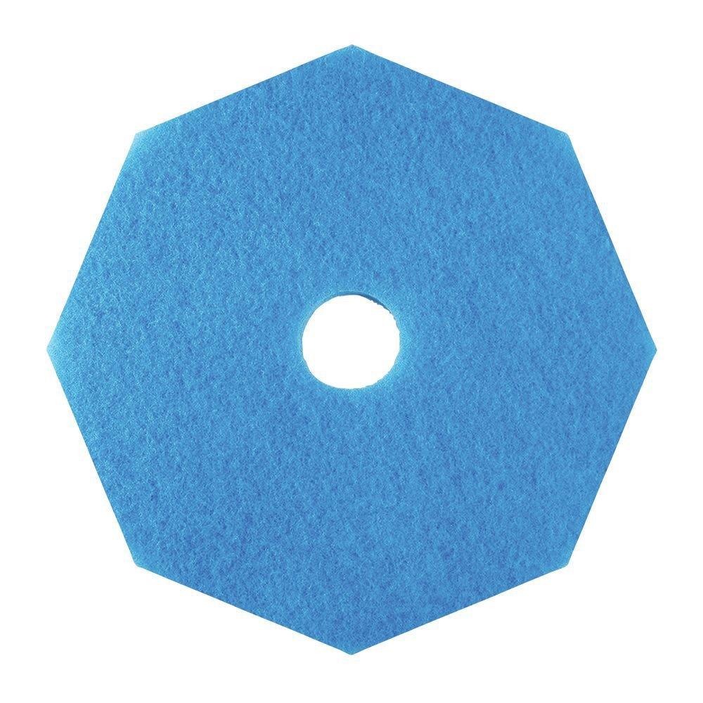 HUBERT Floor Stripping Pad Octagon Black Octagon Blue - 20''Dia 5 Per Case