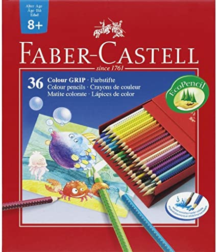 Faber castell - estuche 36 lapices color grip: Amazon.es: Oficina y papelería