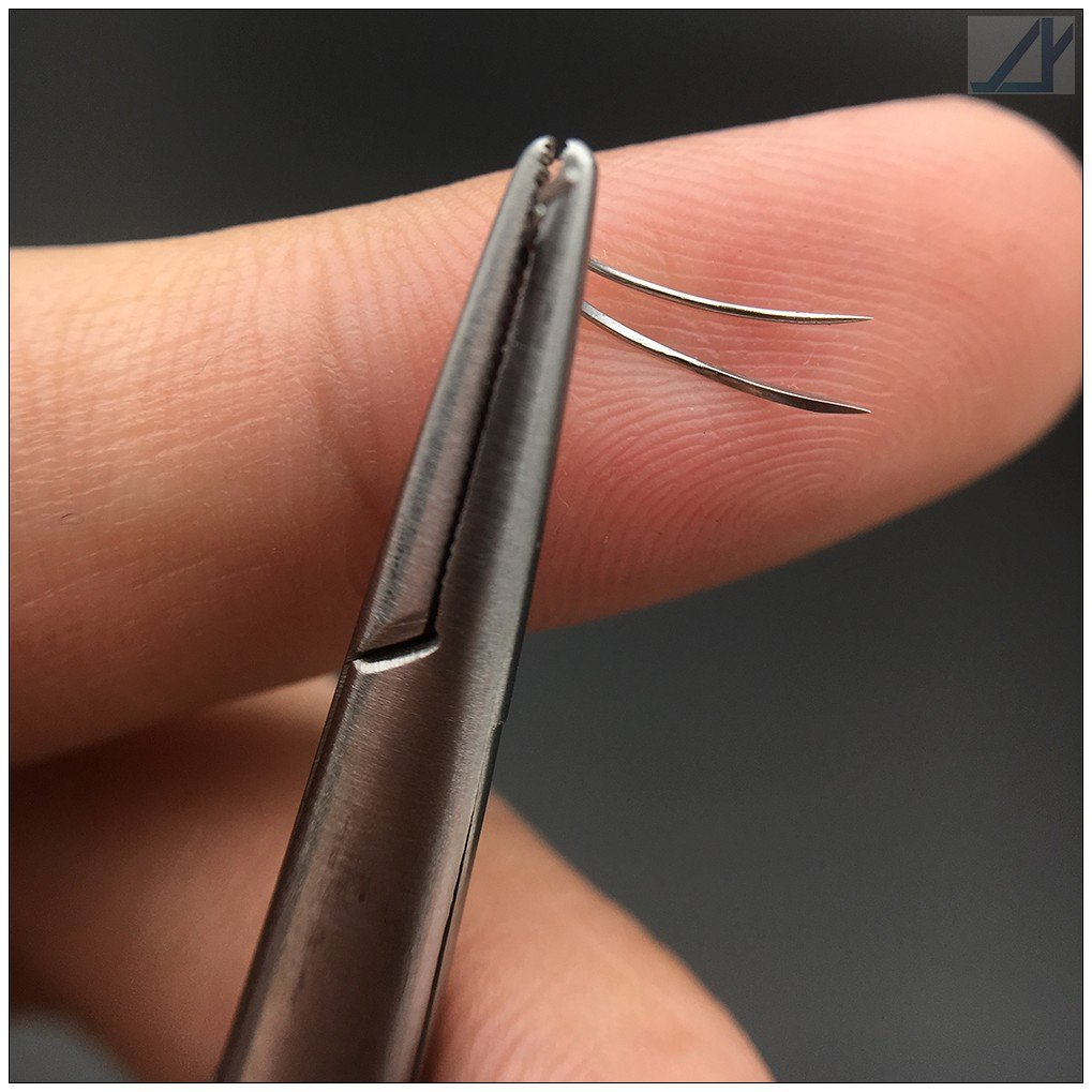100 PCS Pack Suture Needles 1/2 Circle (4x12, Conventional Cutting Needle)