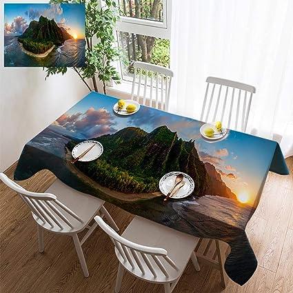 Amazon Com Hoomore Simple Color Cotton Linen Tablecloth