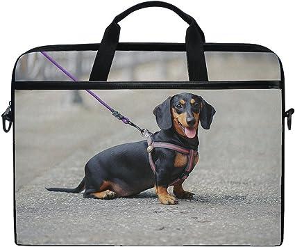 Dog Bulldog Silhouette Cross Body Shoulder Messenger Laptop Bag
