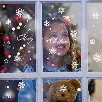 Amazoncom Extsud Window Sticker SnowflakeWindow Decorations - Snowflake window stickers amazon
