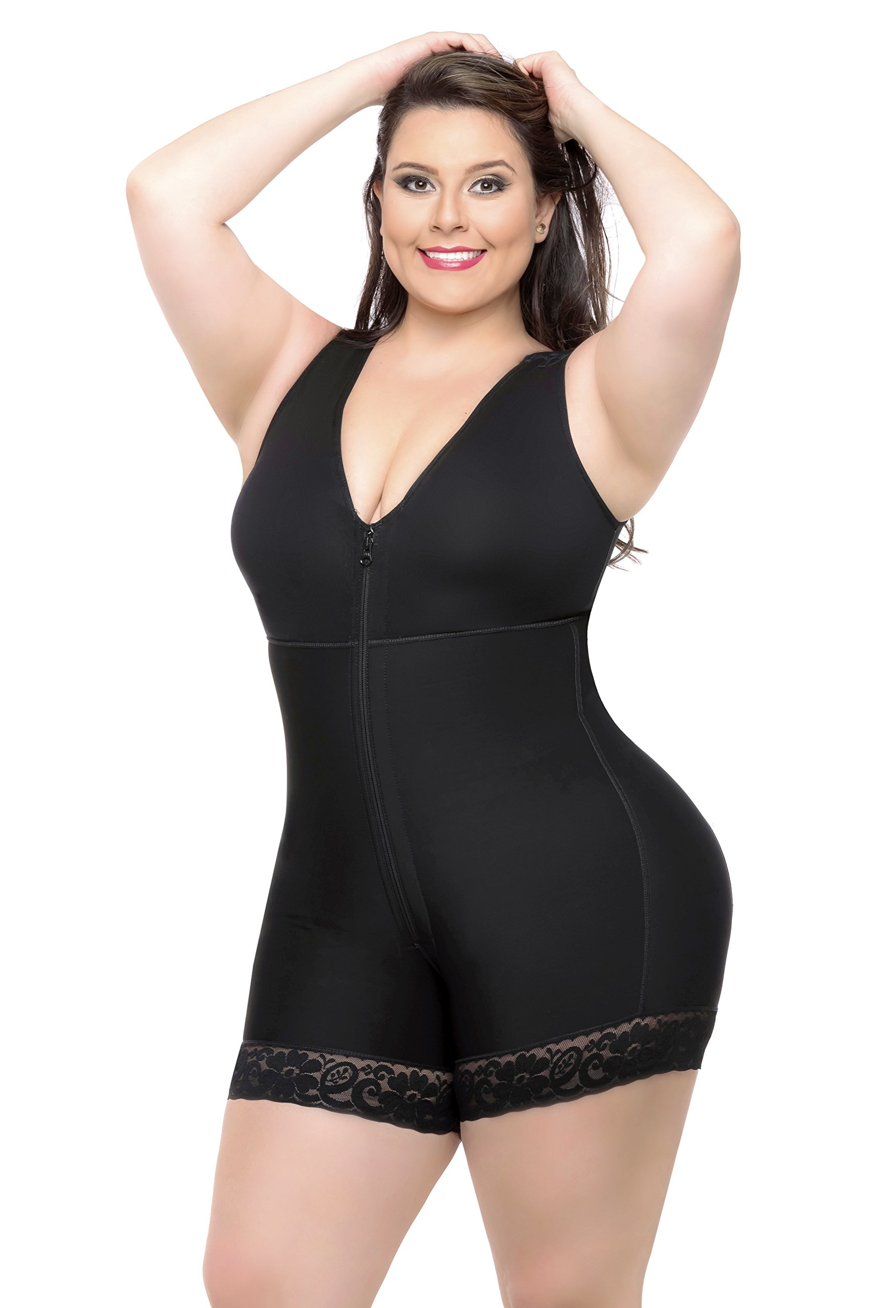 Fajas Colombianas Full Body Shaper Butt Lifter Short Style With Bra & High Back Coverage