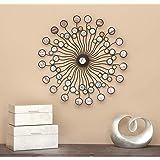 Metal Wall Art - Cuadro decorativo para pared, color negro y marrón, 96.52 cm x 96.52 cm, mini círculos, Multicolor, 27…