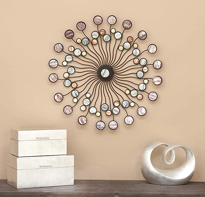 Deco 79 13533 Metal Wall Modern Iron Starburst Wall Decor, 27""