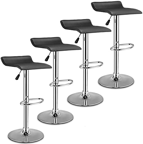 Amazon.com: United Family Shop - Silla de bar neumática ...