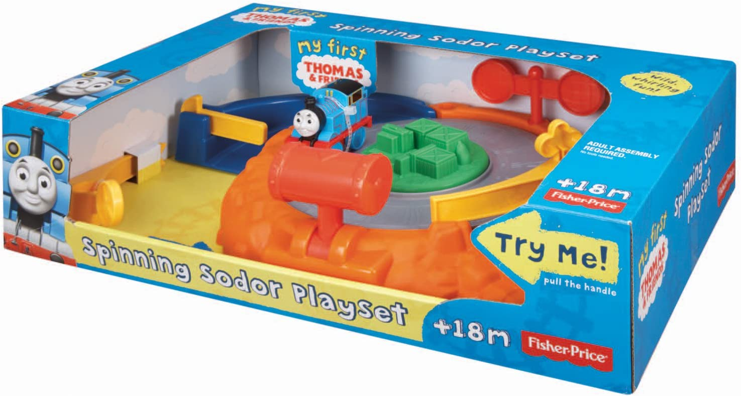 Fisher-Price My First Thomas and Friends Spinning Sodor Playset Toy BCX82