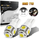 Partsam 2x 168 194 T10 5SMD LED Bulbs Car License Plate Lights Lamp White 12V