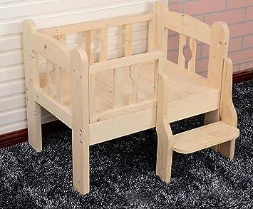 Cama para mascotas mascotas perros mascotas sólido madera gatos de cama del animal doméstico de la perrera , m: Amazon.es: Deportes y aire libre