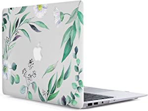 MacBook Air 11 Inch Case - L2W 2 in 1 Flowers Series Pattern Plastic Hard Shell Case Cover for 11-inch MacBook Air 11.6