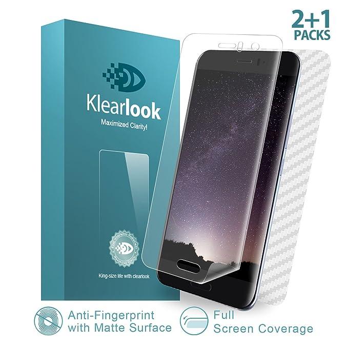 5 opinioni per Pellicola Protettiva HTC U11, Klearlook® Premium [Serie di impronte digitali]