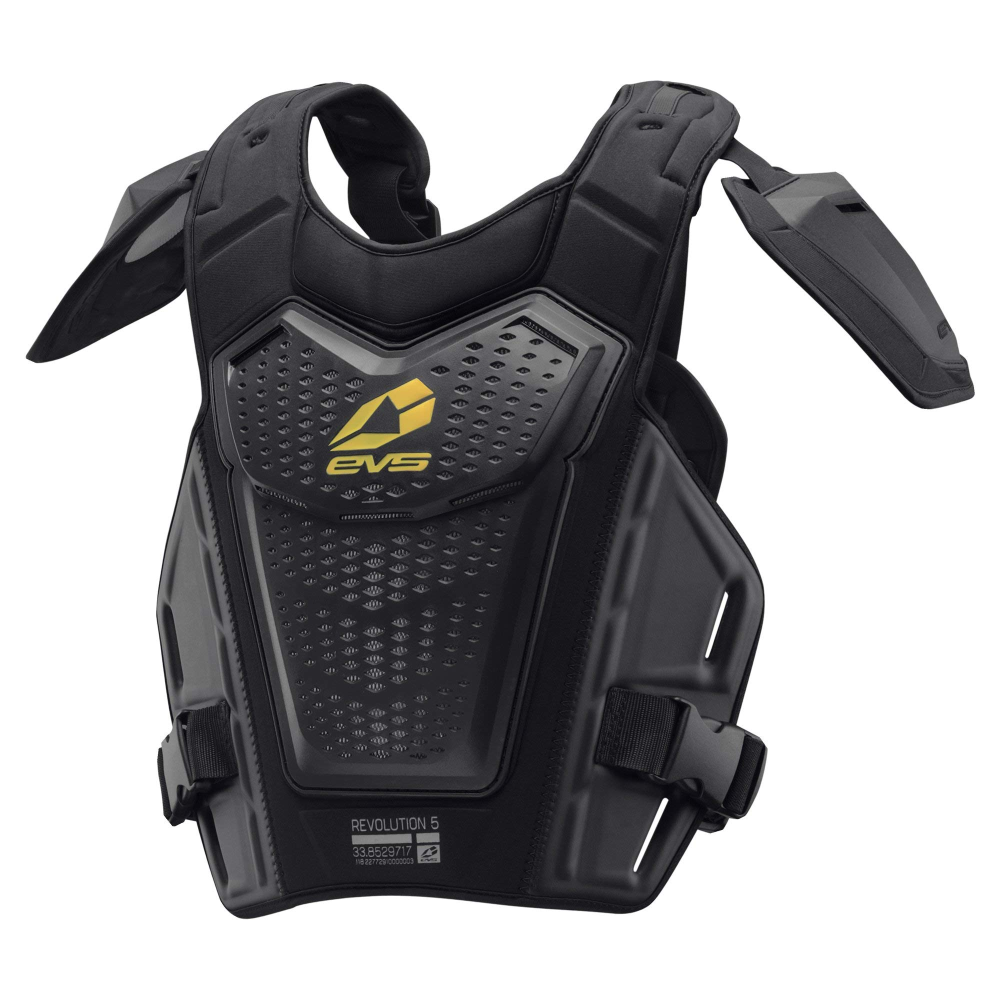 EVS Sports Men's Roost Deflector (REVO 5) (Black/Hi-Viz, Adult (L/XL)) by EVS Sports