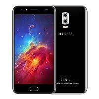 M - HORSE Power 2 4G Phablet 5.5 pulgadas Android 7.0 MTK6737 Quad Core 1.3GHz 2GB RAM 16GB ROM Cámaras Duales Posteriores Escáner de Huellas Dactilares (NegroPlata)