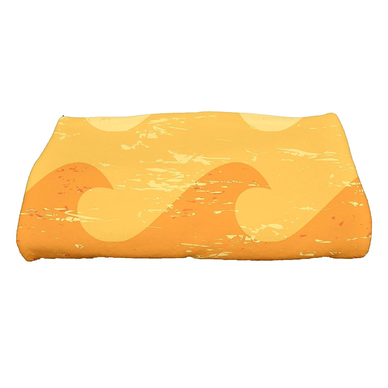 E by design Deep Sea Geometric Print Bath Towel 28 x 58 Blue