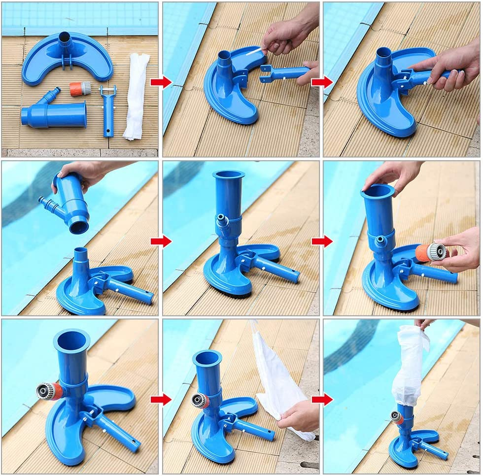 ToToT 10pcs Swimming Pool Cleaning Tools Replacement Accessories V-Clip Handle Replacement Accessories for Skimmer Brushes